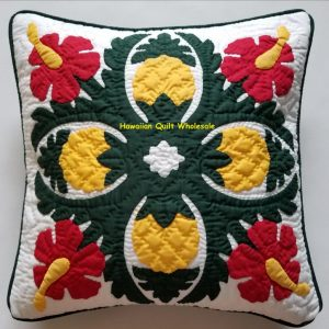 Pineapple Hibiscus Pillow Covers BGREY