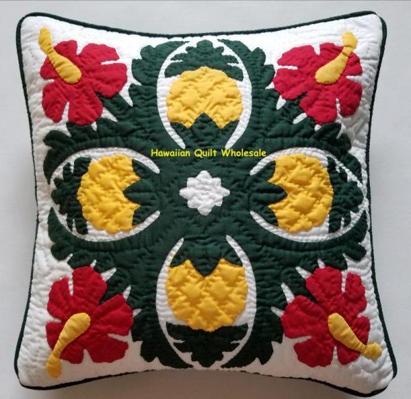 Pineapple Hibiscus Pillow Covers BGREY