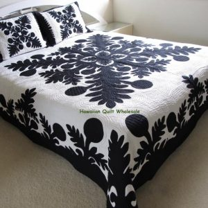 Breadfruit Ulu Bedpread BLK