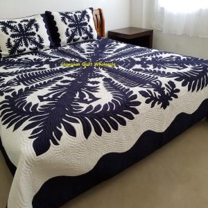 Crown and Kahili Bedspread NB