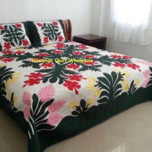 Hibiscus Plumeria Torch Ginger Bedspread BGMU