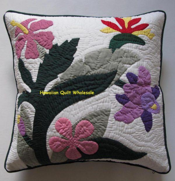 Birds of Paradise Hibiscus Plumeria Catleya Pillow Covers M