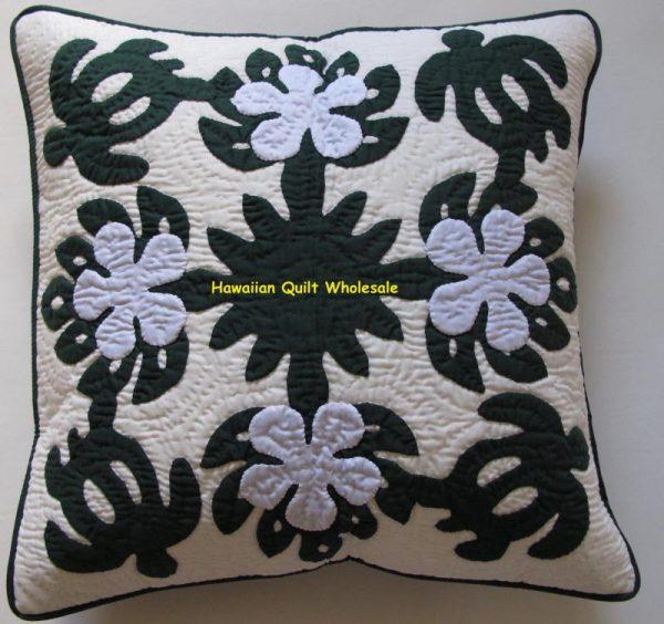 Sea Turtles Plumeria Pillow Covers BGW