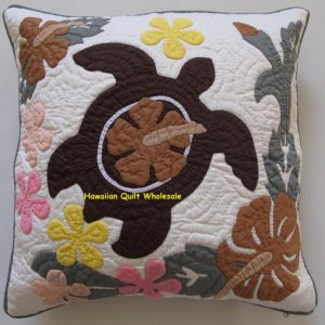 Sea Turtle Hibiscus Plumeria Pillow Covers MC