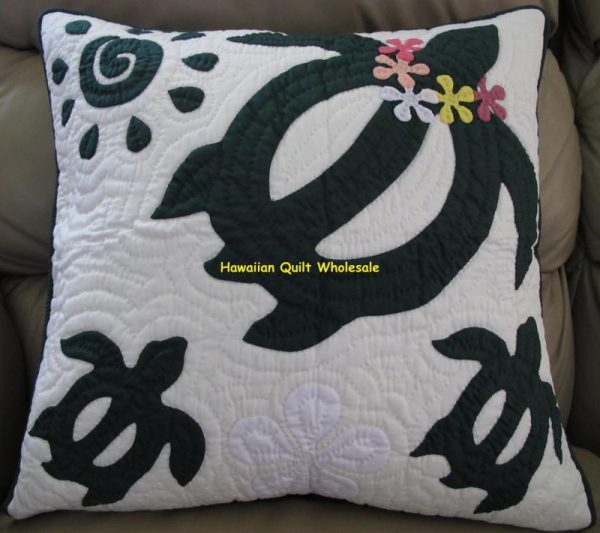 Sea Turtle Plumeria Pillow Covers BG