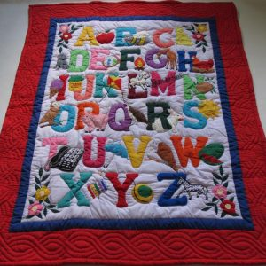 American Style ABC Baby Blanket RE