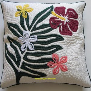 Plumeria Fern Hibiscus Pillow Covers BGMO