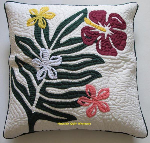 Plumeria Fern Hibiscus Pillow Covers BGMO
