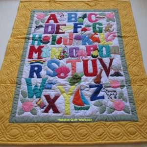 Hawaiian Style ABC Baby Blanket YE