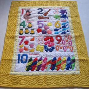 Hawaiian Numbers Baby Blanket YE