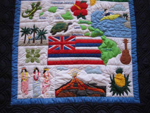 My Island Hawaiian Flag Baby Blanket NBO