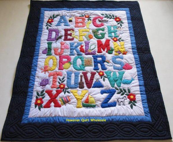 Hawaiian Style ABC Baby Blanket NBLB