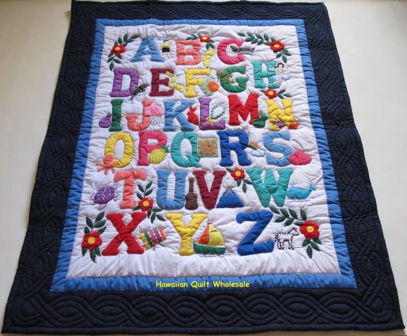 Hawaiian style abc baby blanket nblb hawaiian quilt wholesale