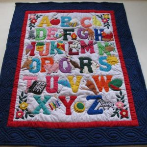 American Style ABC Baby Blanket IB