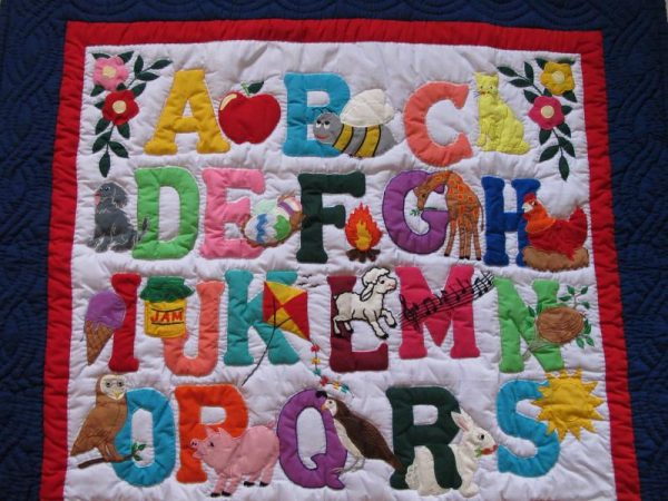 American Style ABC Baby Blanket IB
