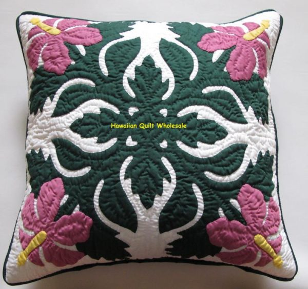 Hibiscus Pillow Covers BGDR