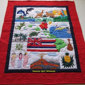 My Island Hawaiian Flag Baby Blanket RENB