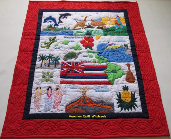 My Island Hawaiian Flag Baby Blanket RENB