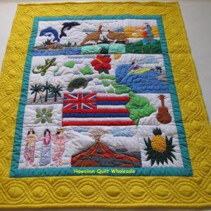 My Island Hawaiian Flag Baby Blanket YE