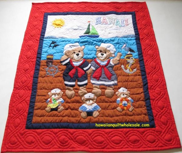 Bear Family Baby Blanket RE