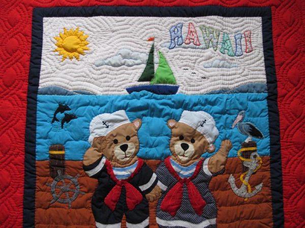 Bear Family Baby Blanket RE