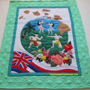 Hula Dancers Hawaiian Flag MG