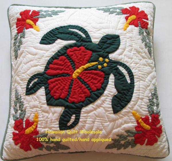 "Sea Turtle Hibiscus Pillow Covers BGRE16 (16"" x 16"")"