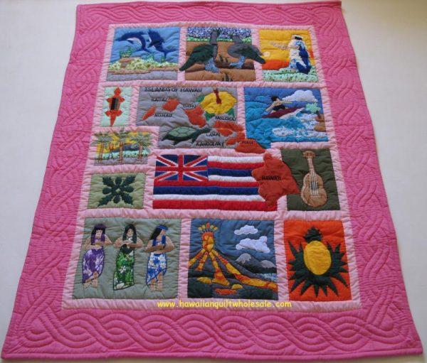 My Island Hawaiian Flag Baby Blanket PI