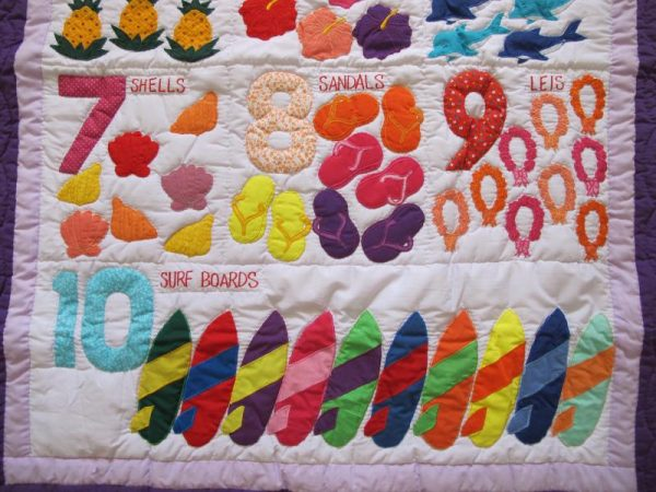 Hawaiian Numbers Baby Blanket P