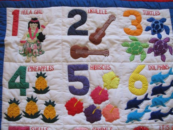 Hawaiian Numbers Baby Blanket RE