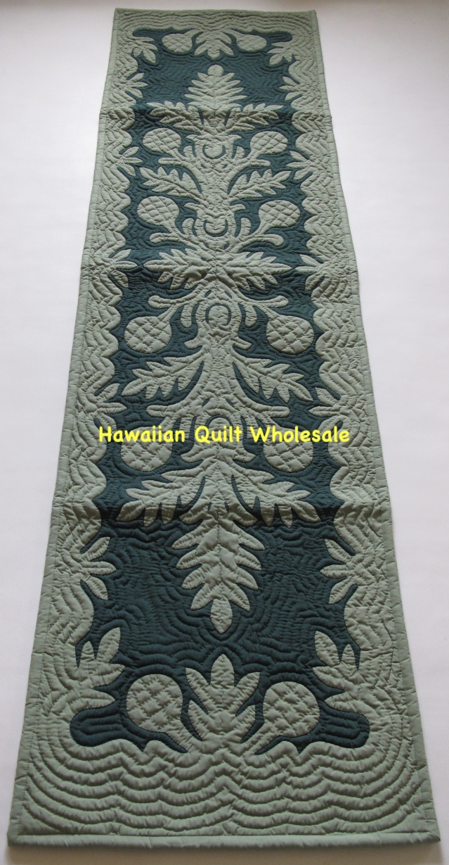 Breadfruit Table Bed Runner Cgbg Hawaiian Quilt Wholesale