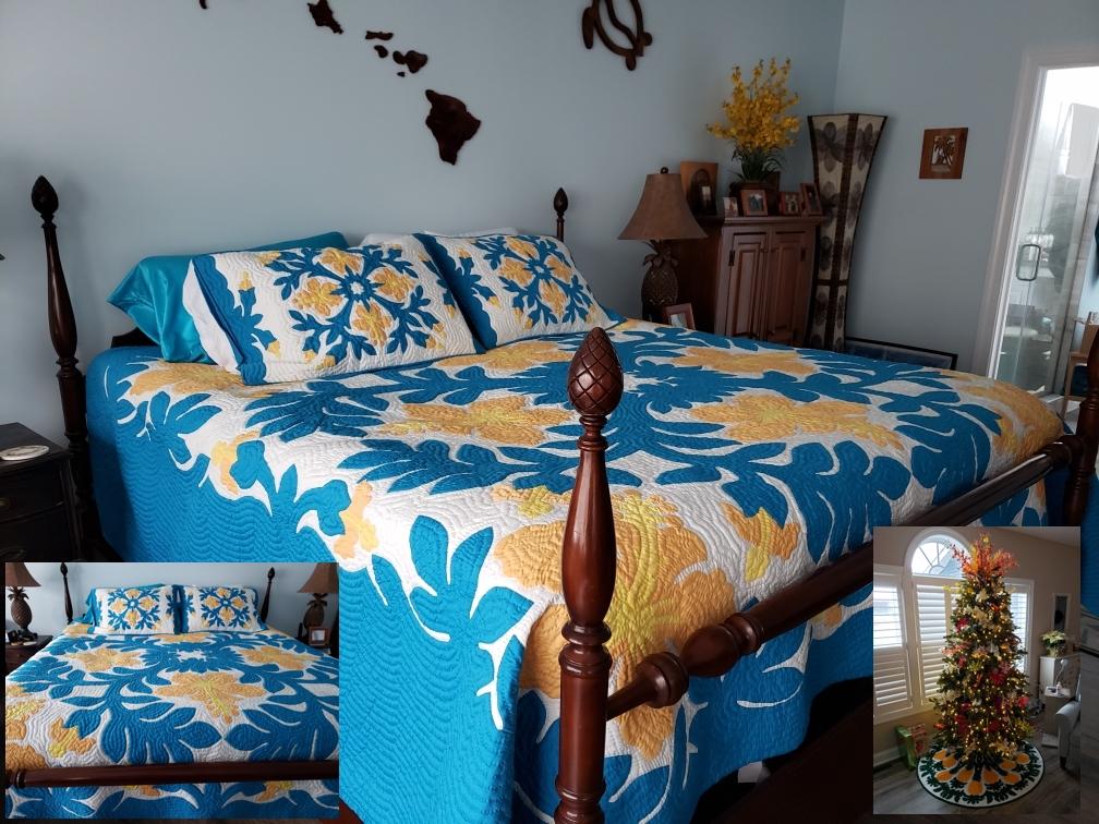 Kathleen's Bedspread and Christmas tree skirt